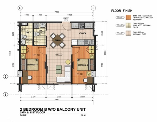 2 BEDROOM-B-W & WO BALCONY