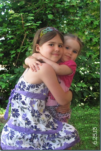 2nd bday girls hug