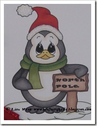 Cute Penguin Christmas Card (4)