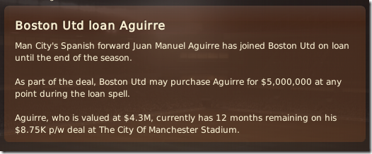 I can buy Aguirre in future