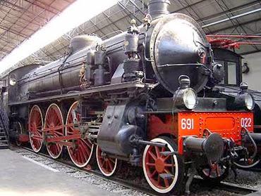 Locomotiva treno a vapore veloce 691 anni 30-30 (max 130-150 km)