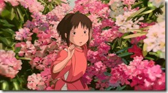 Spirited Away Chihiro in the Flower Bushes