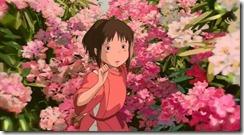 Spirited Away Chihiro in the Flower Bushes