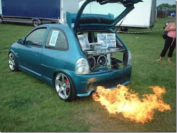 Car fogo