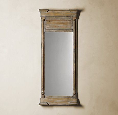 It's hard to believe that this mirror was not unearthed at a architectural salvage yard. (restorationhardware.com)