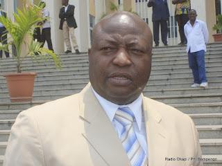 Clément Kanku, Député National du Mouvement de Libération du Congo (MLC), ce 15 mars 2011 à Kinshasa