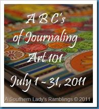 art journaling 101 button