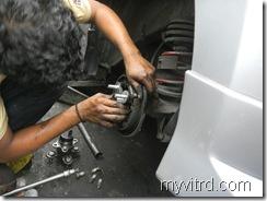 Tukar bearing tayar dengan ABS-myvi-5