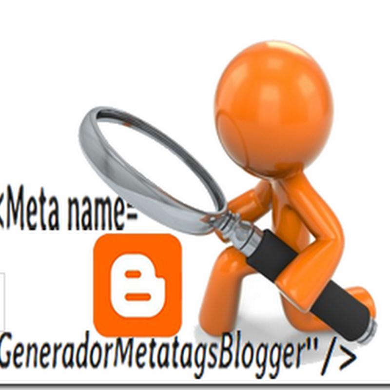 Generador de metatags para blogger