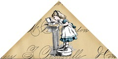 Alice corner bookmark example