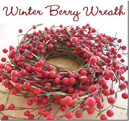 Winter wreath--red berry wreath
