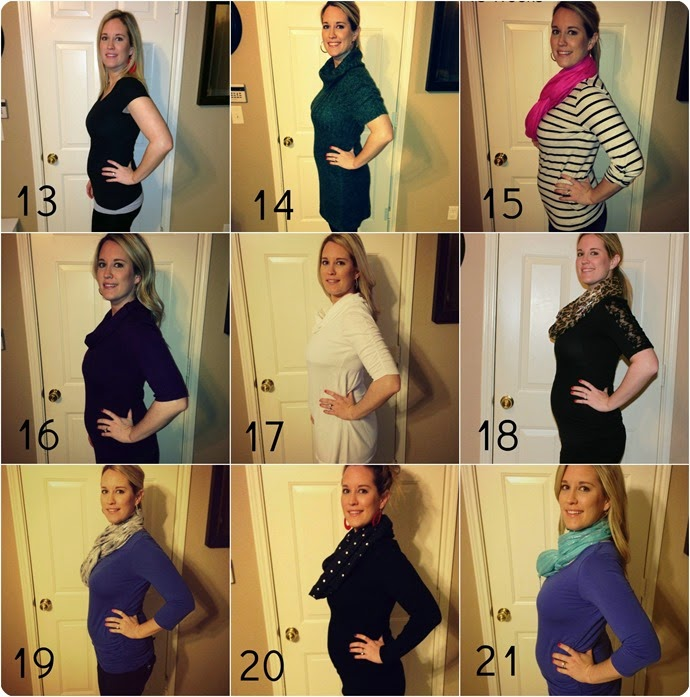 13-21 Weeks with numbers
