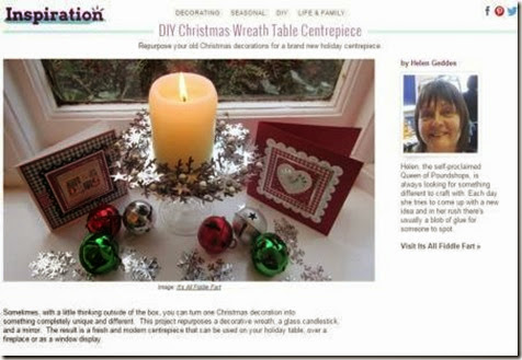 Wayfair DIY Christmas Wreath Table Centrepiece