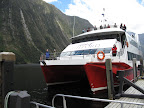 Boat for Milford Sound