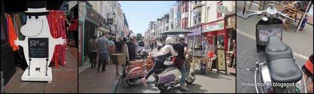 Brighton bikes & Moomin Pappa
