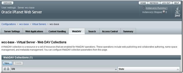 iPlanet-WebDav-Configuration