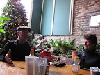 We had breakfast with Ralph, the man that owns the museum, and a bicycle fan, kathy.