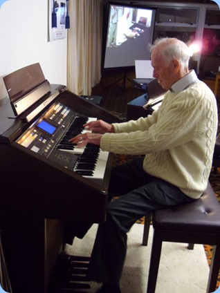 Rendall's career started with the Theatre Organ and he kindly gave an encore on the Club's Technics GA3 Organ by request.