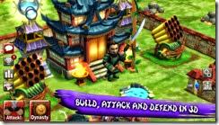 قم ببناء قريتك والهجوم والدفاع عنها فى بيئة ثلاثية الأبعاد فى لعبة حروب معلمى الساموراى