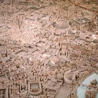 00g.-Maqueta de Roma en el siglo IV.
