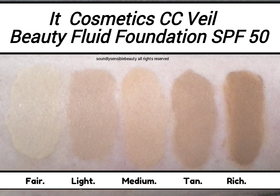 It CC Veil Cushion Foundation; Review & Swatches of Shades