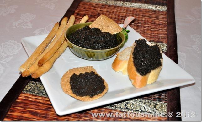 وصفة صلصة الزيتون الأسود من www.fattoush.me