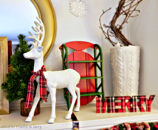 reindeer on mantel