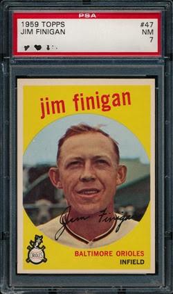 1959 Topps 47 Jim Finigan no dot