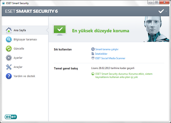 Eset Smart Security v6.0.316.1 Türkçe Full