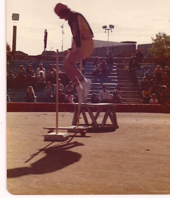 This is at the Marine World Contest with Brad clearing the high jump.