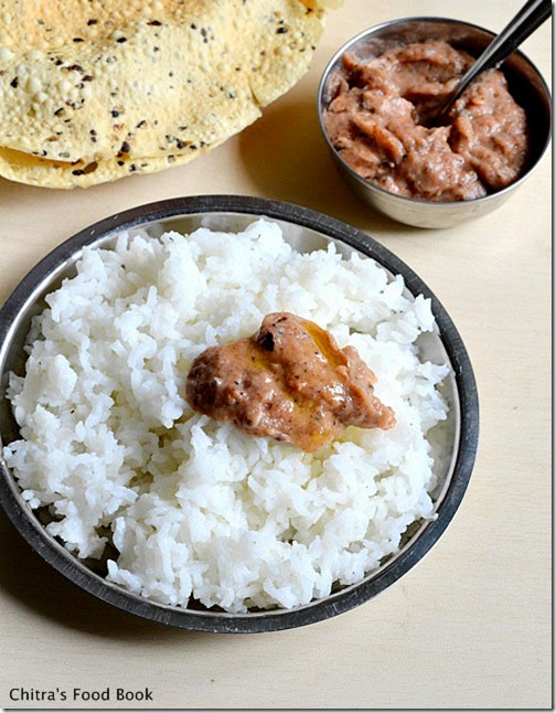 thogayal for rice