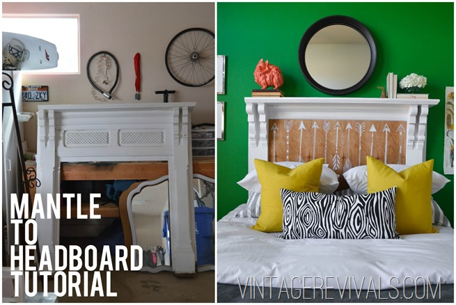 How To Turn A Mantle Into A Headboard