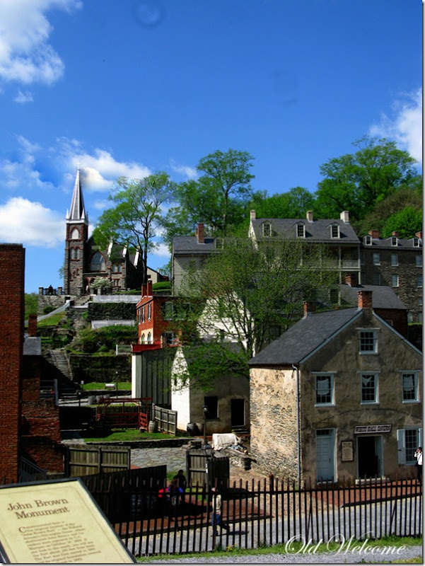 town view harpers ferry wv old welcome