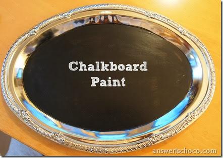 Chalkboard Painted Tray