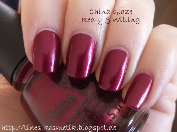 China Glaze Red-y & Willing 5