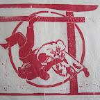 seoi nage - gravure sur bois 30 x 22 cm - 40 €