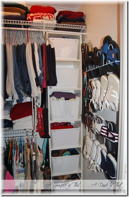 Master Bedroom Closet After {A Sprinkle of This . . . . A Dash of That}