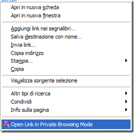 Open in Private Browsing Mode - Open Link in Private Browsing Mode