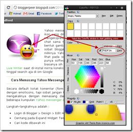 Colorpic, Software Untuk Mengetahui Kode Warna HTML