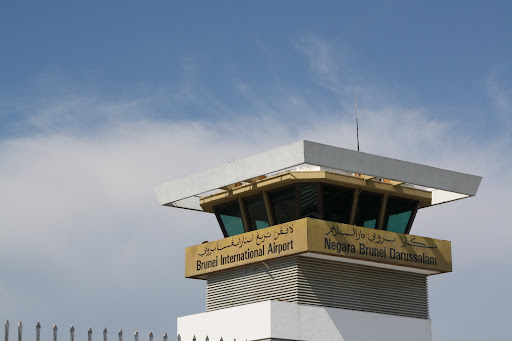 Only in Brunei can one find a control tower with gold all over it!