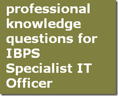 professional knowledge questions for IBPS Specialist-IT