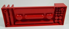 Red plastic desk organizer by Tom Ahlström and Hans Ehrich for Argö