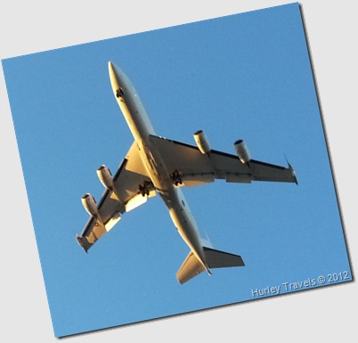 Airplane over our motorhome in Oklahoma.