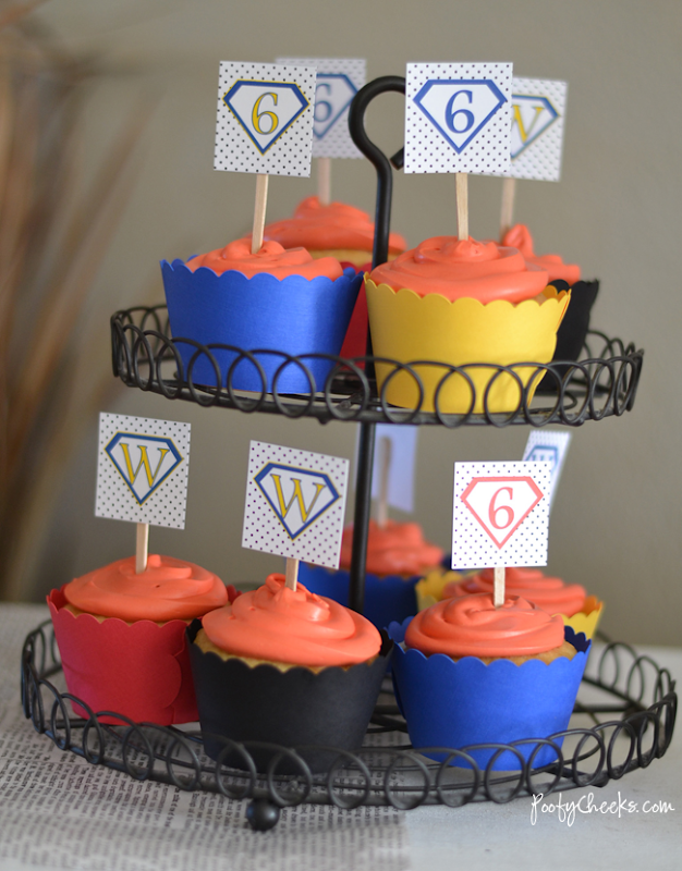 Free Super Hero Party Printables - Cupcake Toppers
