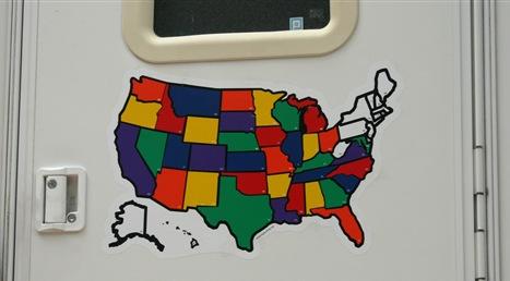 map on door
