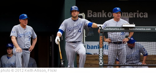 'Ned Yost, Alex Gordon, Kevin Seitzer' photo (c) 2012, Keith Allison - license: http://creativecommons.org/licenses/by-sa/2.0/