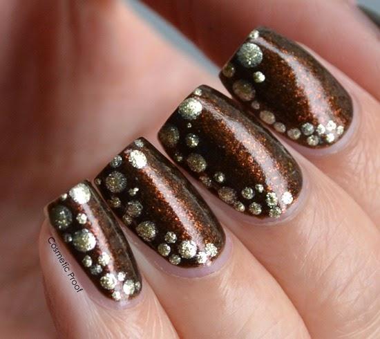 Revlon Parfumerie Autumn Spice Dotted Nail Art (2)