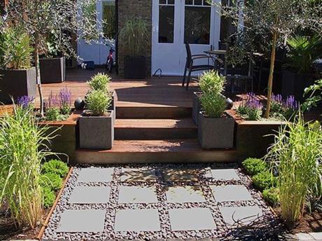 Jardin moderno imagui for Jardines modernos para casas