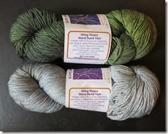 String Theory Dyeworks - caper sock - October 2013