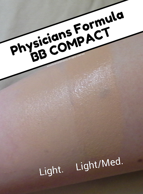 Physicians Formula BB Cream Compact Review & Super All-in-1 Beauty Balm Swatches of Shades Light & Light/Medium